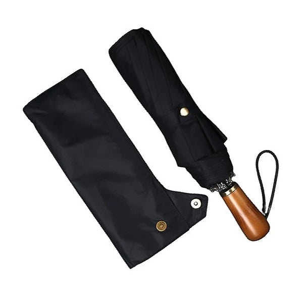 Black folding windproof umbrella