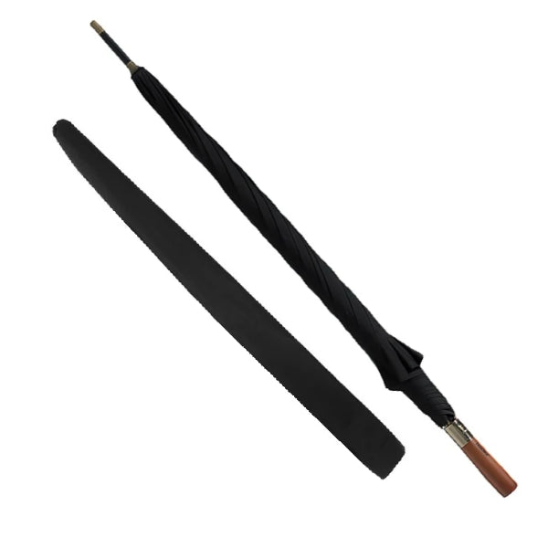 Black strong wooden umbrella