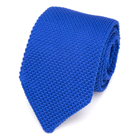 Classy Men Solid Blue Knitted Tie