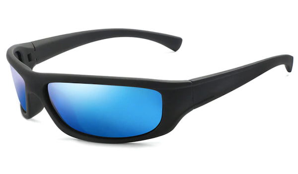 Classy Men Blue Mirrored Sports Sunglasses - Classy Men Collection