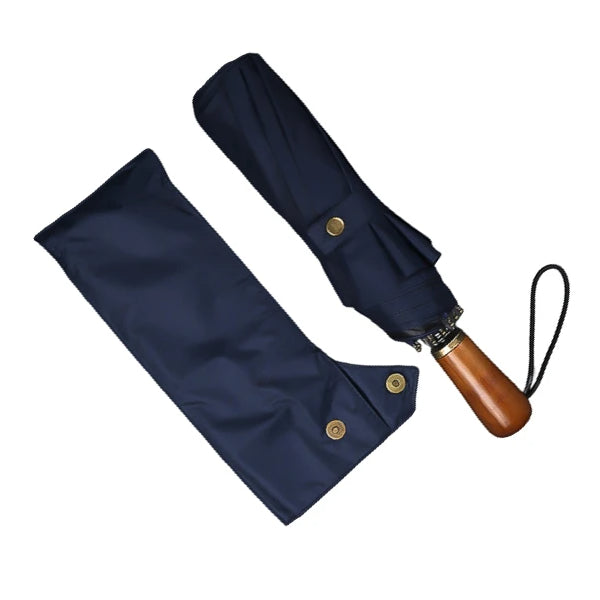 Blue folding windproof umbrella