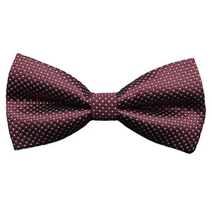 Classy Men Burgundy Silver Deluxe Pre-Tied Bow Tie - Classy Men Collection