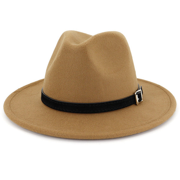 Classic camel fedora hat for men