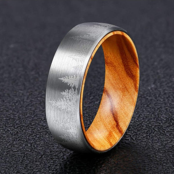 Classy Men Olive Wood Ring - Classy Men Collection