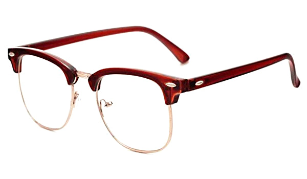 Classy Men Glasses Clear/Brown - Classy Men Collection