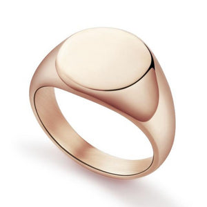 Classy Men Rose Gold Polished Pinky Ring