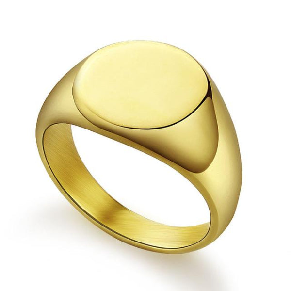 Classy Men Gold Polished Pinky Ring - Classy Men Collection