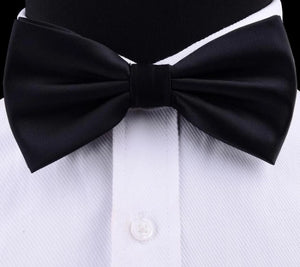 Classy Men Black Silk Pre-Tied Bow Tie - Classy Men Collection