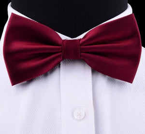 Classy Men Wine Red Silk Pre-Tied Bow Tie