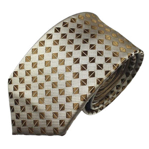 Classy Men Gold Luxury Silk Narrow Tie