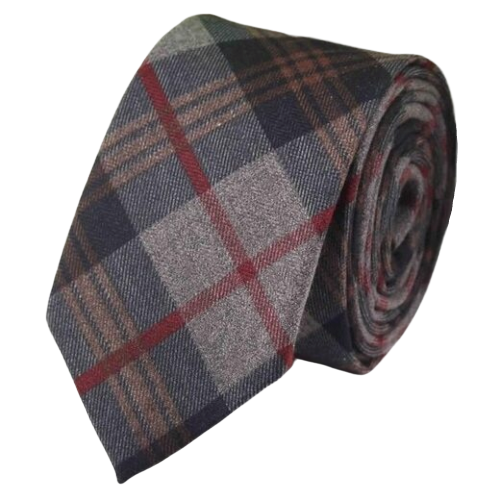 Classy Men Grey Brown Red Cotton Necktie