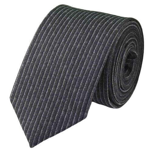 Classy Men Grey Striped Cotton Necktie