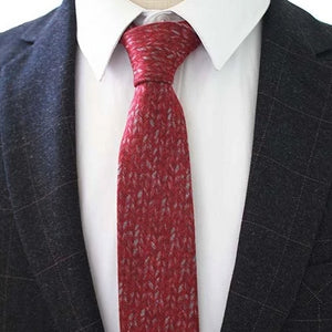 Classy Men Red Knit Cotton Necktie