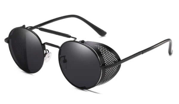 Classy Men Round Side Shield Sunglasses