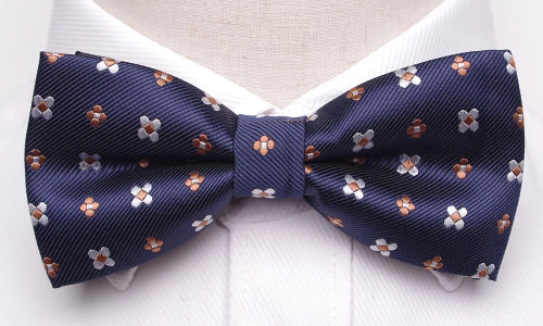 Classy Men Blue Flower Bow Tie - Classy Men Collection