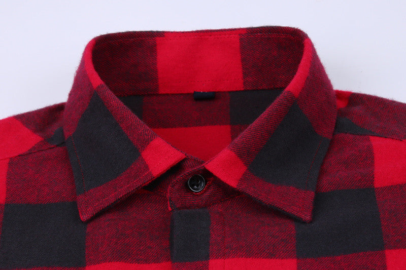Red Plaid Shirt - 7 Styles | Regular Fit | Sizes 38-44