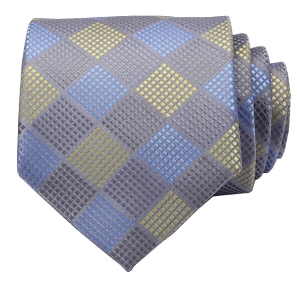 Classy Men Casual Checkered Silk Necktie - Classy Men Collection