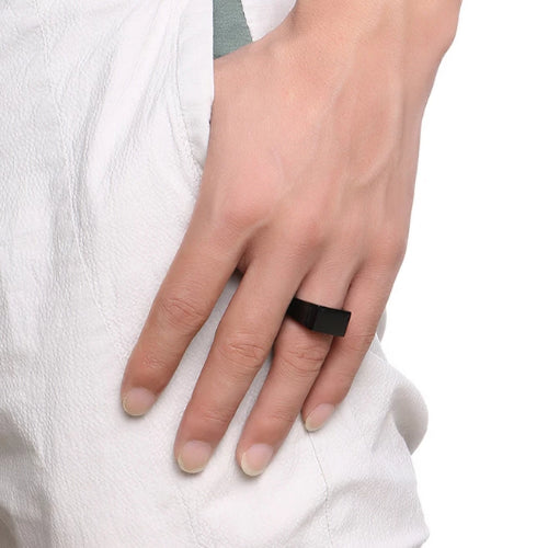 Classy Men Black Pinky Signet Ring - Classy Men Collection