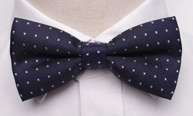 Classy Men Blue Dotted Bow Tie - Classy Men Collection