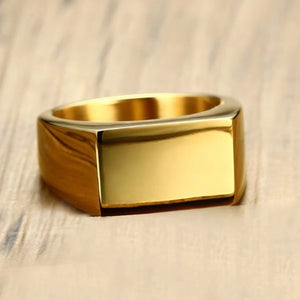 Classy Men Gold Pinky Signet Ring - Classy Men Collection