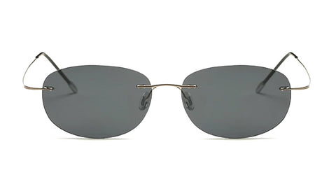 Classy Men Black Lightweight Oval Sunglasses - Classy Men Collection