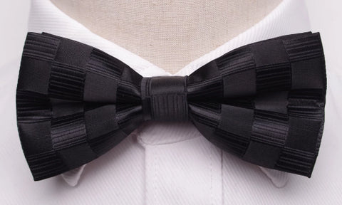 Classy Men Black Checkered Bow Tie - Classy Men Collection
