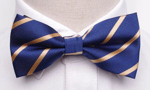 Classy Men Gold Striped Bow Tie - Classy Men Collection