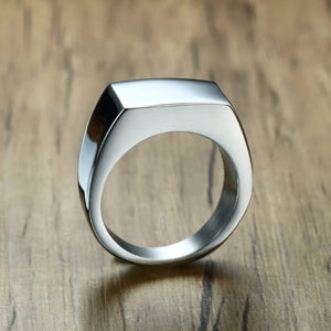 Classy Men Silver Pinky Signet Ring