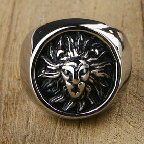 Classy Men Lion Signet Ring Silver - Classy Men Collection