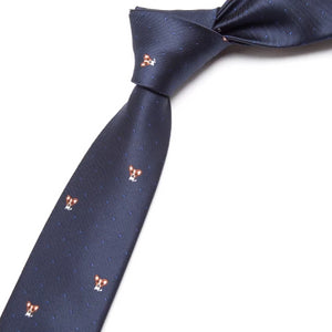Classy Men Blue Chihuahua Skinny Tie - Classy Men Collection