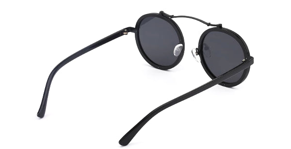 Classy Men Black Retro Round Sunglasses - Classy Men Collection