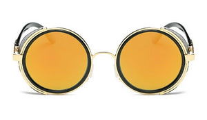 Classy Men Gold Retro Side Shield Sunglasses - Classy Men Collection