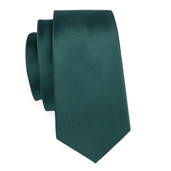 Jade green necktie made of silk