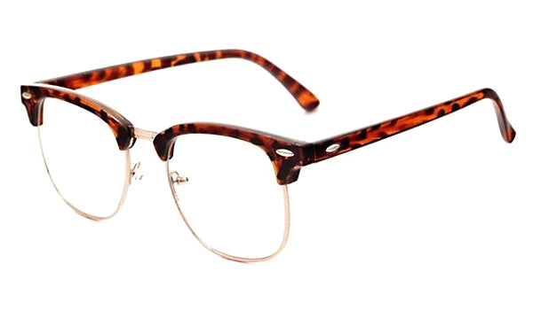 Classy Men Sunglasses Clear/Leopard - Classy Men Collection