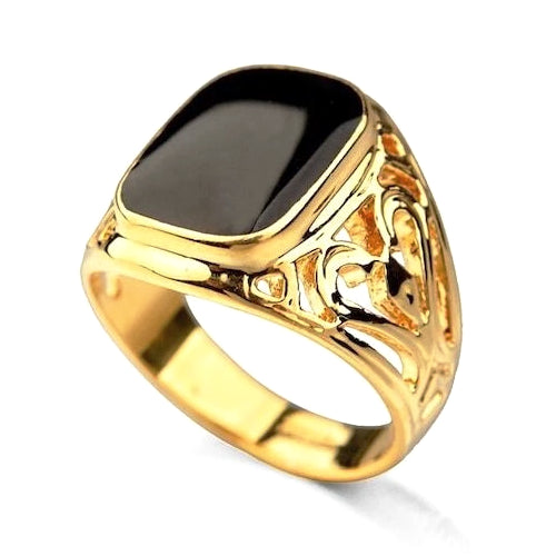 Classy Men Gold Royal Ring