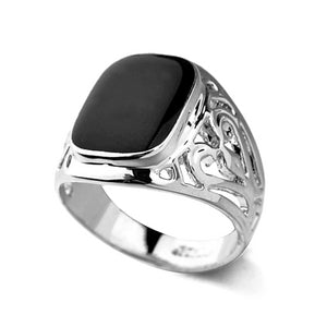Classy Men Platinum Royal Ring