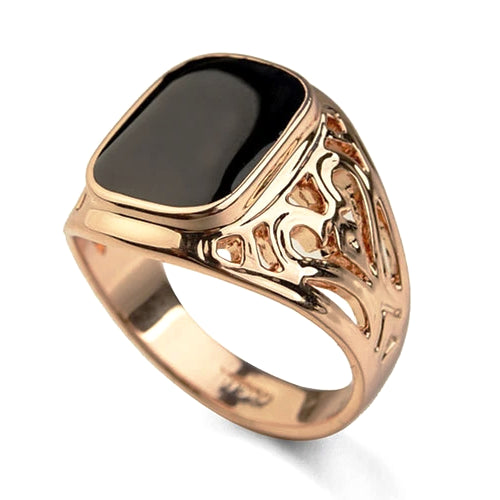 Classy Men Rose Gold Royal Ring