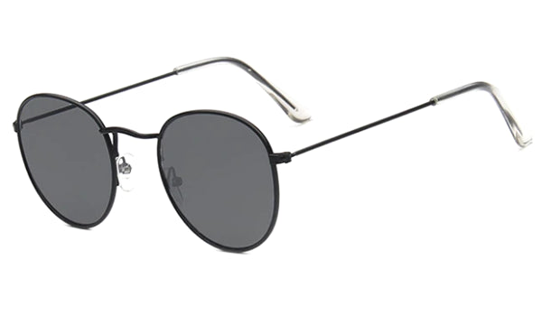 Classy Men Round Sunglasses All Black