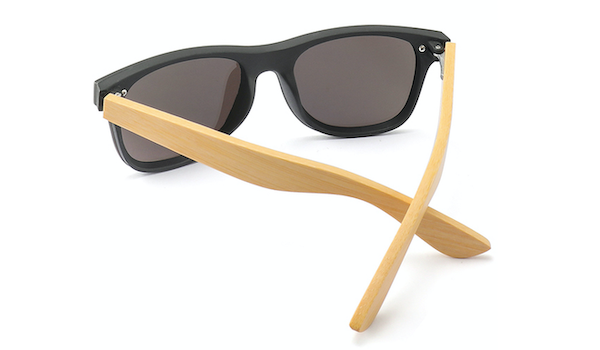 Classy Men Brown Bamboo Wood Sunglasses