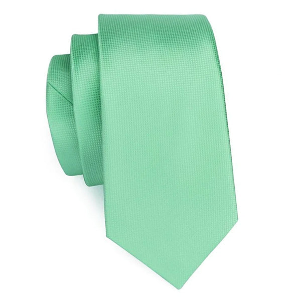 Mint green tie made of silk
