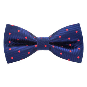 Classy Men Blue Red Dotted Bow Tie - Classy Men Collection
