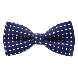 Classy Men Blue Polka Dot Bow Tie - Classy Men Collection