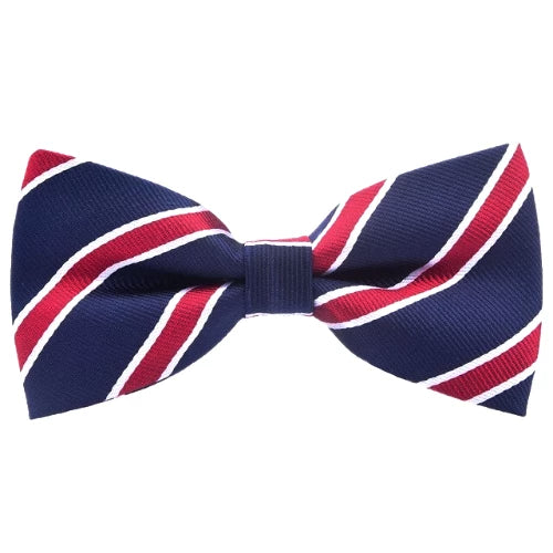 Classy Men Red Striped Bow Tie