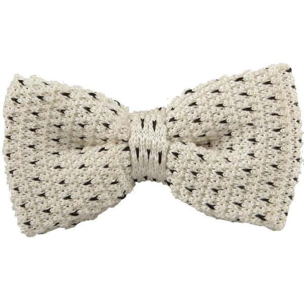 Classy Men Knitted Bow Tie Off-White - Classy Men Collection
