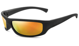 Classy Men Orange Mirrored Sports Sunglasses