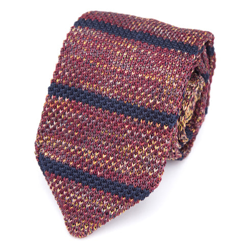 Classy Men Red Striped Knitted Tie