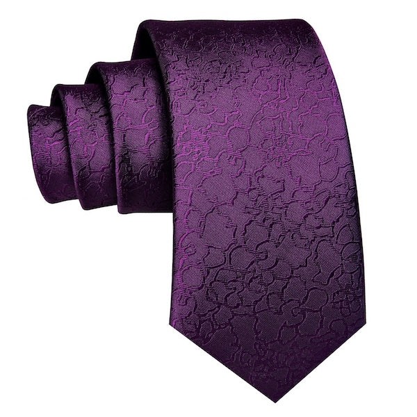 Royal purple silk necktie