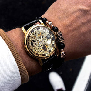 Classy Men Watch Superior Gold/Black