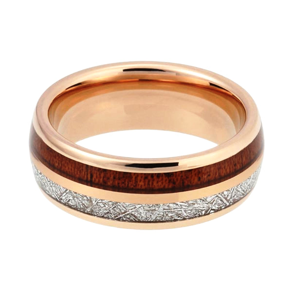 Classy Men Gold Twin Wood Ring - Classy Men Collection