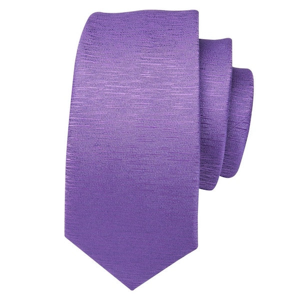 Violet silk tie with subtle noise pattern